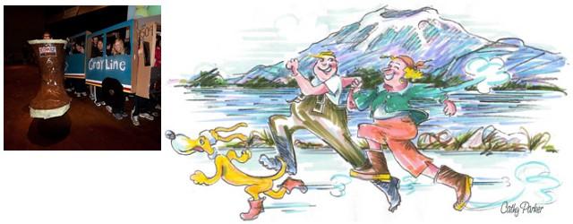 Sitka Alaska's Running of the Boots Race